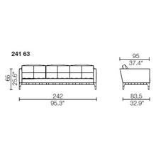 241 63 - 3 POSTI - Largh. 242 cm - Prof. 95 x h 65 cm