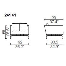241 61 - width 92 x depth 95 x h. 65 cm