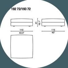 192 72 - POUF - 110 x 115