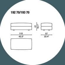 192 70 - POUF - 110 x 57