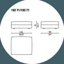 192 71 - POUF - 110 x 94