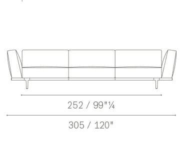 3 seater high armrests