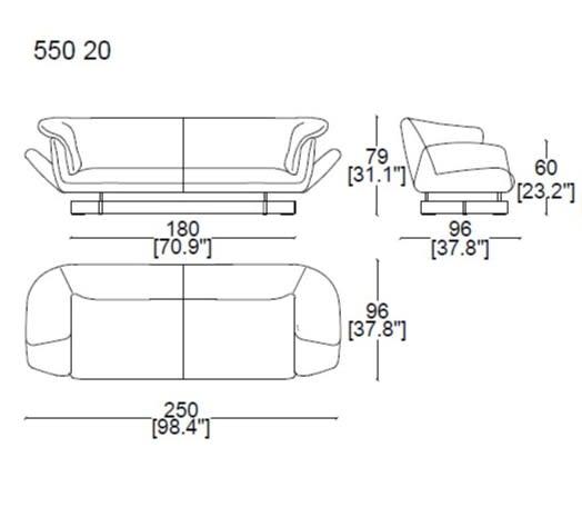 2 Seater 250 cm