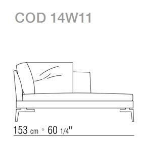 Dormeuse 153cm