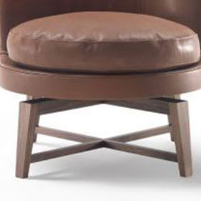 Soft Armchair base wood/swivel