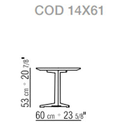 Ø60xh.53 cm