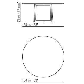 Ø160xh.71 cm