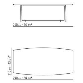 240x110xh.71 cm