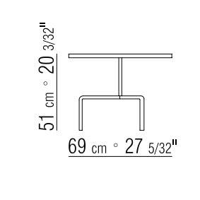 Ø69xh.51 cm