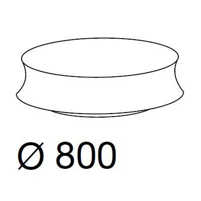 Ø80 x h.25 cm