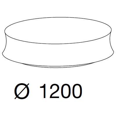 Ø120 x h.35 cm
