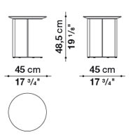 Round ⌀ 45 cm