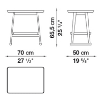 Rettangolare 70 x 50 cm