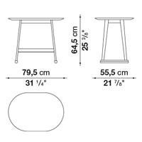 Ovale 79.5 x 55.5 cm