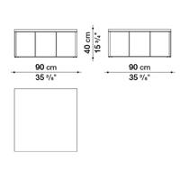 Quadrato 90 x 90 cm