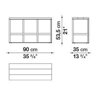 Rettangolare 90 x 35 cm