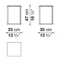 Square 35 x 35 cm