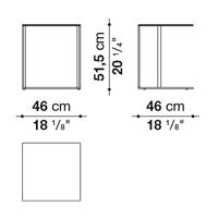 Square 46 x 46 cm