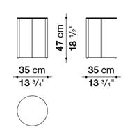 Round ⌀ 35 x h. 47 cm