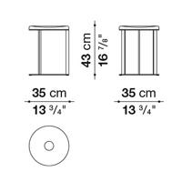 Round ⌀ 35 x h. 43 cm
