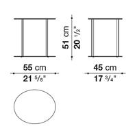 Oval 55 x 45 cm