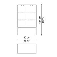 LX03 (90 x 46 x h. 144 cm)