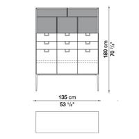 LX01 (135 x 46 x h. 180 cm)