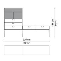 LX15S (225 x 46 x h. 144 cm)