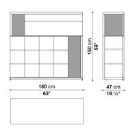 Alto h. 150 cm