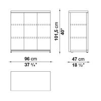 Middle h. 101.5 cm
