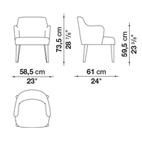 Armrest 73.5 cm