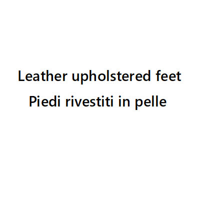 Wooden feet upholstered in leather
