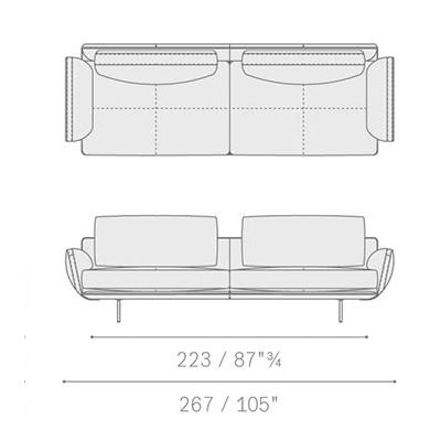 5645281 large two-seater sofa 267x91x87