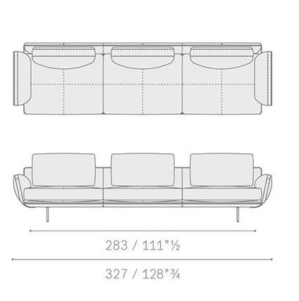 5645311 three-seater sofa 327x91x87