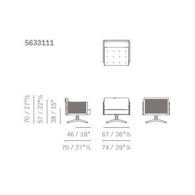 Poltrona - 5633111 (74x70x70 cm)