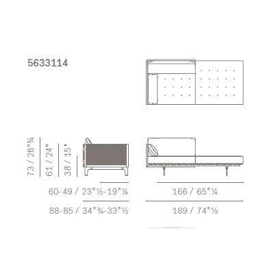 Poltrona con panca - 5633114 (189x88x73 cm)