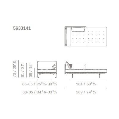 Chaise Longue - 5633141 (189x88x73 cm)