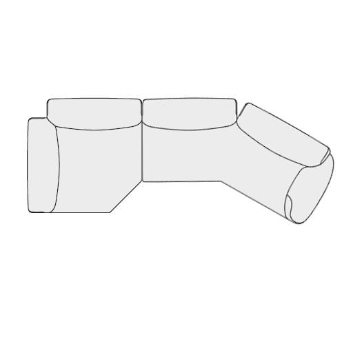 Angolare Asimmetrico sx (348x130 cm)