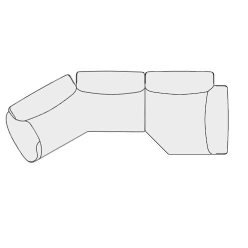 Angolare Asimmetrico dx (348x130 cm)