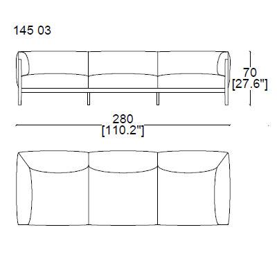 14503 three seater sofa 280x95