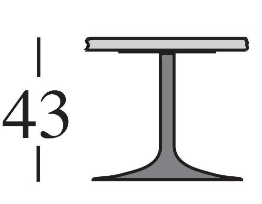 h.43 cm