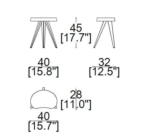 40x32xh45 cm