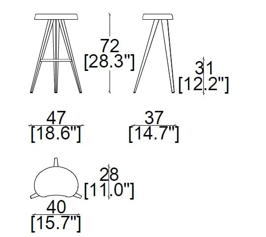 47x37xh72 cm