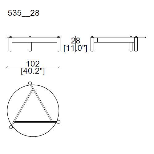 Ø102xh.28cm