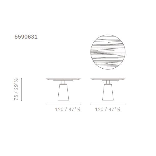 Ø120xh75xcm