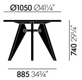 Ø 1050 x H 740 mm