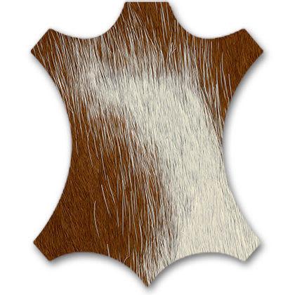 64 ash natural / brown white calf's skin