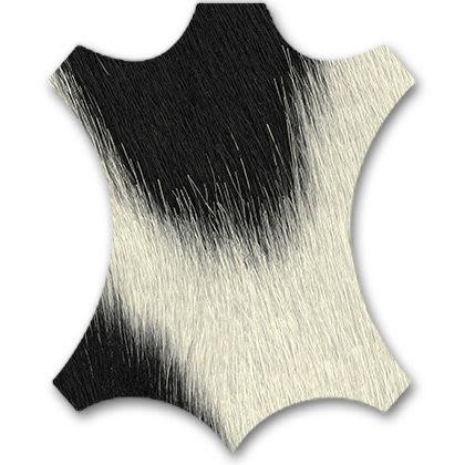 68 black ash / black white calf's skin
