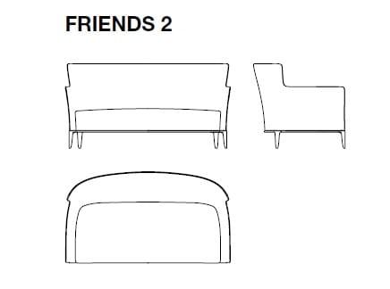 Friends 2 - 166x94xH87 cm
