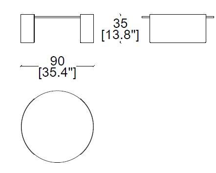 Bowy 90xH35 cm
